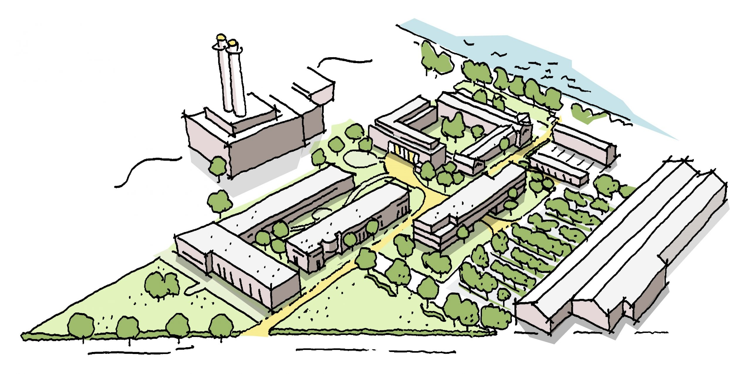 Schets van Campus Werkspoor terrein